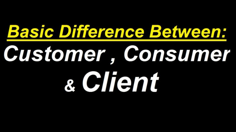 Difference between Customer and Client