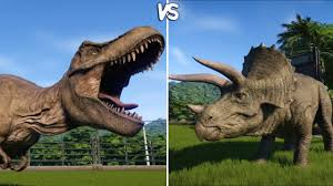 Difference between Triceratops and Tyrannosaurus