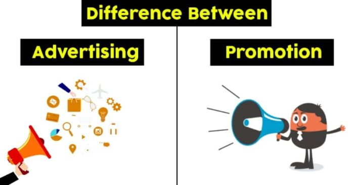 difference between advertising and promotion