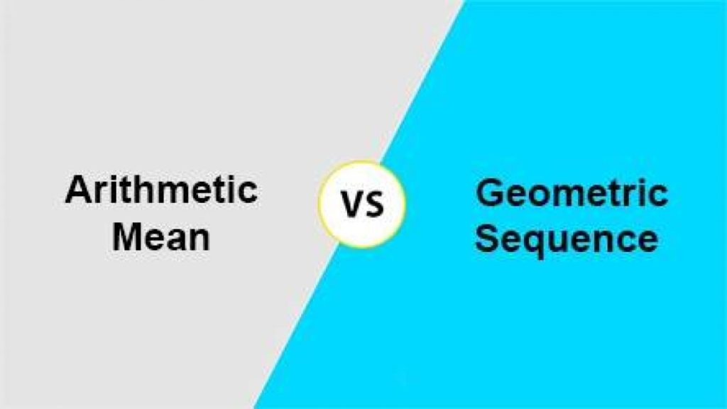 Difference between Arithmetic and Geometric Sequence