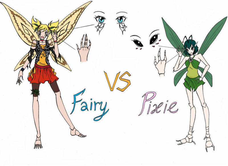 difference between pixie and fairy